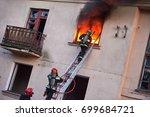 firemans team during... | Shutterstock . vector #699684721