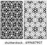 vector monochrome seamless... | Shutterstock .eps vector #699687907
