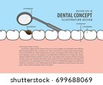 layout decay tooth check up ... | Shutterstock .eps vector #699688069