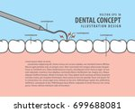 layout decay tooth check up ... | Shutterstock .eps vector #699688081