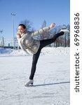 pretty girl skating | Shutterstock . vector #69968836