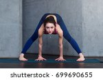 young fit woman standing in... | Shutterstock . vector #699690655