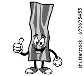bacon strip with thumbs up... | Shutterstock .eps vector #699695455
