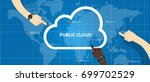 public cloud within a company... | Shutterstock .eps vector #699702529