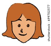 woman face smile expression...   Shutterstock .eps vector #699702577