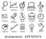 set of hand drawn business... | Shutterstock .eps vector #699707674