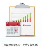 vector illustration of timing... | Shutterstock .eps vector #699712555
