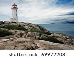 The Lighthouse At Peggy\'s Cove...