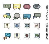 chat box conversation talk line ... | Shutterstock .eps vector #699722581