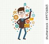 businessman concept design... | Shutterstock .eps vector #699726865