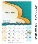 02 february hijri 1439 to 1440  ... | Shutterstock .eps vector #699730534