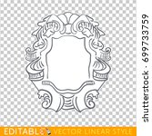 banners ribbons cartouche.... | Shutterstock .eps vector #699733759
