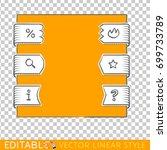 banners ribbons. editable line... | Shutterstock .eps vector #699733789
