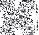 abstract elegance seamless... | Shutterstock .eps vector #699737785