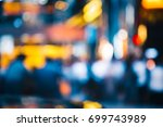abstract bokeh background of... | Shutterstock . vector #699743989