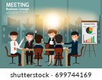 business people meeting and... | Shutterstock .eps vector #699744169