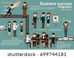 business people meeting and... | Shutterstock .eps vector #699744181