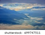 amazing clouds with heavy fog...   Shutterstock . vector #699747511