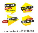colorful shopping sale banner... | Shutterstock .eps vector #699748531