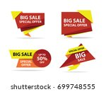 colorful shopping sale banner... | Shutterstock .eps vector #699748555