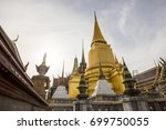 wat phra kaew  popular tourist... | Shutterstock . vector #699750055