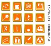 chemical laboratory icons set... | Shutterstock .eps vector #699751471