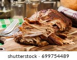 slow cooked pulled pork... | Shutterstock . vector #699754489