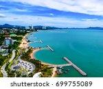aerial view of pattaya harbor ...   Shutterstock . vector #699755089