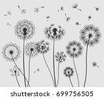 vector dandelion   Shutterstock .eps vector #699756505