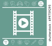 film strip with play | Shutterstock .eps vector #699759295