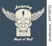 rock and roll t shirt design   Shutterstock .eps vector #699759721