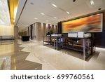 luxury lobby interior. | Shutterstock . vector #699760561