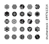 hexagon geometric vector icon   ... | Shutterstock .eps vector #699761314
