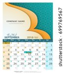 09 september hijri 1439 to 1440 ... | Shutterstock .eps vector #699769567