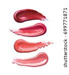 collection of smudged lipsticks ... | Shutterstock . vector #699771871