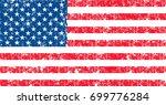 vector flag of usa in oficcial... | Shutterstock .eps vector #699776284