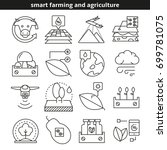 smart farming and agriculture... | Shutterstock .eps vector #699781075