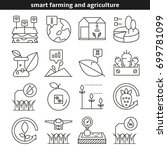 smart farming and agriculture... | Shutterstock .eps vector #699781099