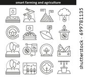 smart farming and agriculture... | Shutterstock .eps vector #699781135