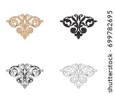 baroque vector set of vintage... | Shutterstock .eps vector #699782695
