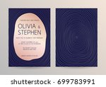 vector modern design wedding...   Shutterstock .eps vector #699783991