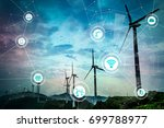 Renewable energy and Internet of Things. Smart factory. Smart energy. Smart grid concept. - stock photo