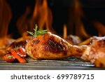grilled chicken leg on the... | Shutterstock . vector #699789715