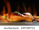 grilled chicken leg on the...   Shutterstock . vector #699789721