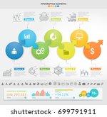 business infographics design... | Shutterstock .eps vector #699791911