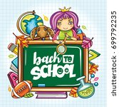 vector education design with... | Shutterstock .eps vector #699792235