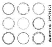 set of rope frame in marine... | Shutterstock .eps vector #699795805