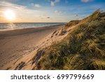 north sea beach  jutland coast... | Shutterstock . vector #699799669