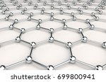 graphene atomic structure on... | Shutterstock . vector #699800941