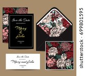 a set of invitation cards for... | Shutterstock .eps vector #699801595